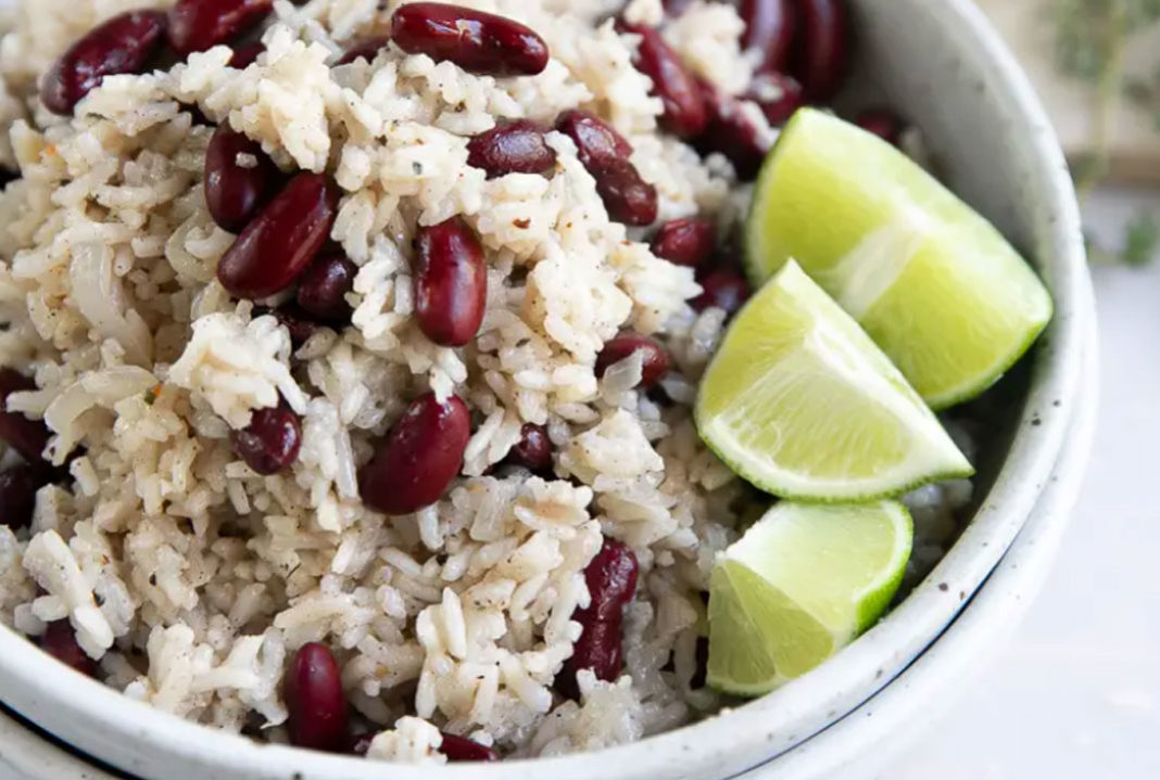 Vegan Rice and Beans with Coconut Milk